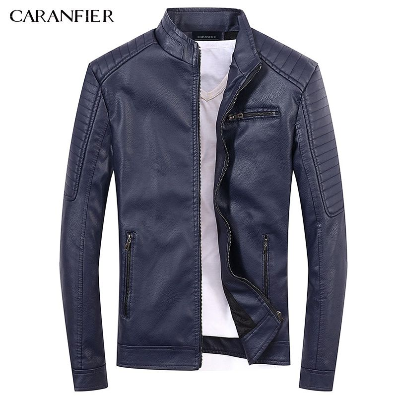 CARANFIER 2017 New Men Leather Jackets High Quality Motorcycles British  Businessmen Casual Fashion Military Tactical Jacket 6334dc56a819