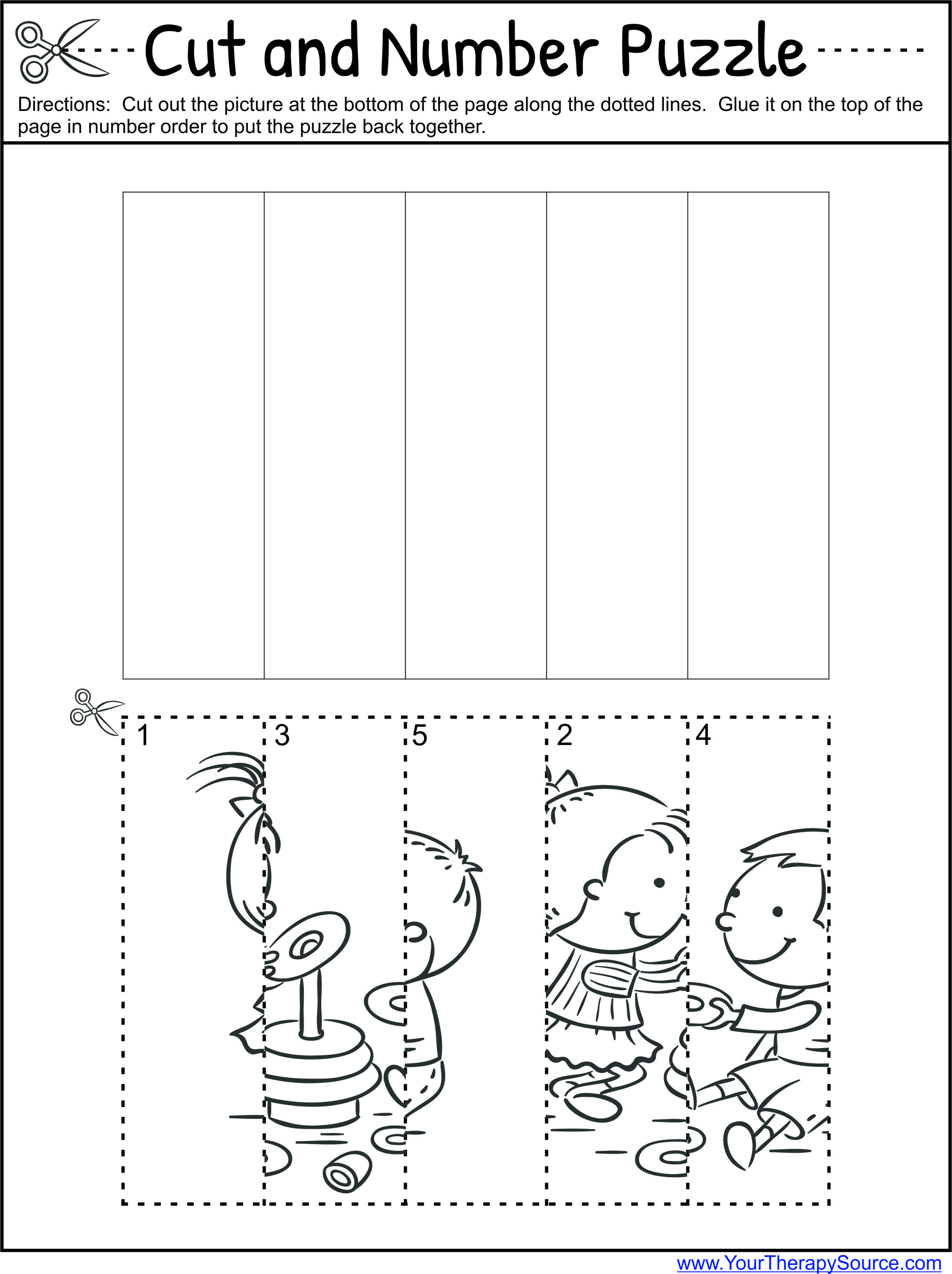 Preschool Worksheet And Puzzles