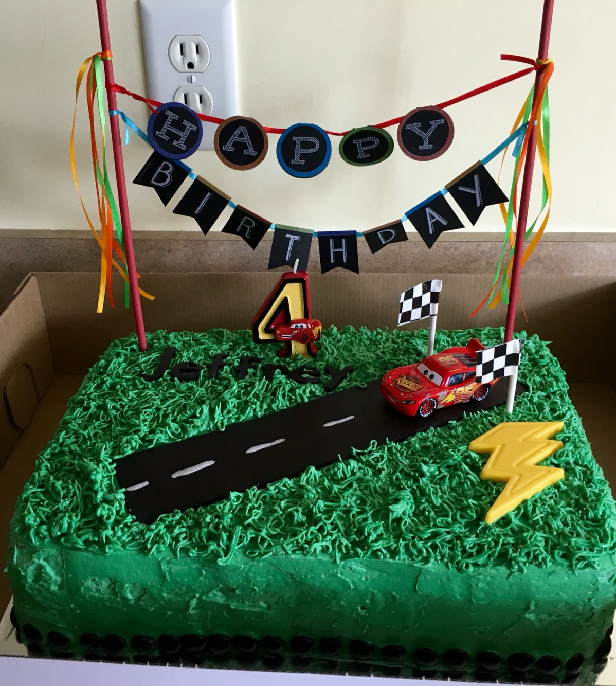 Easy Lightning Mcqueen Disney Cars Cake