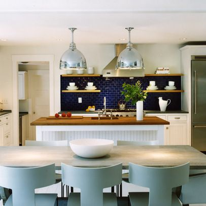 navy blue backsplash beautiful coastal kitchen design kitchen design home kitchens on kitchen decor navy id=12427