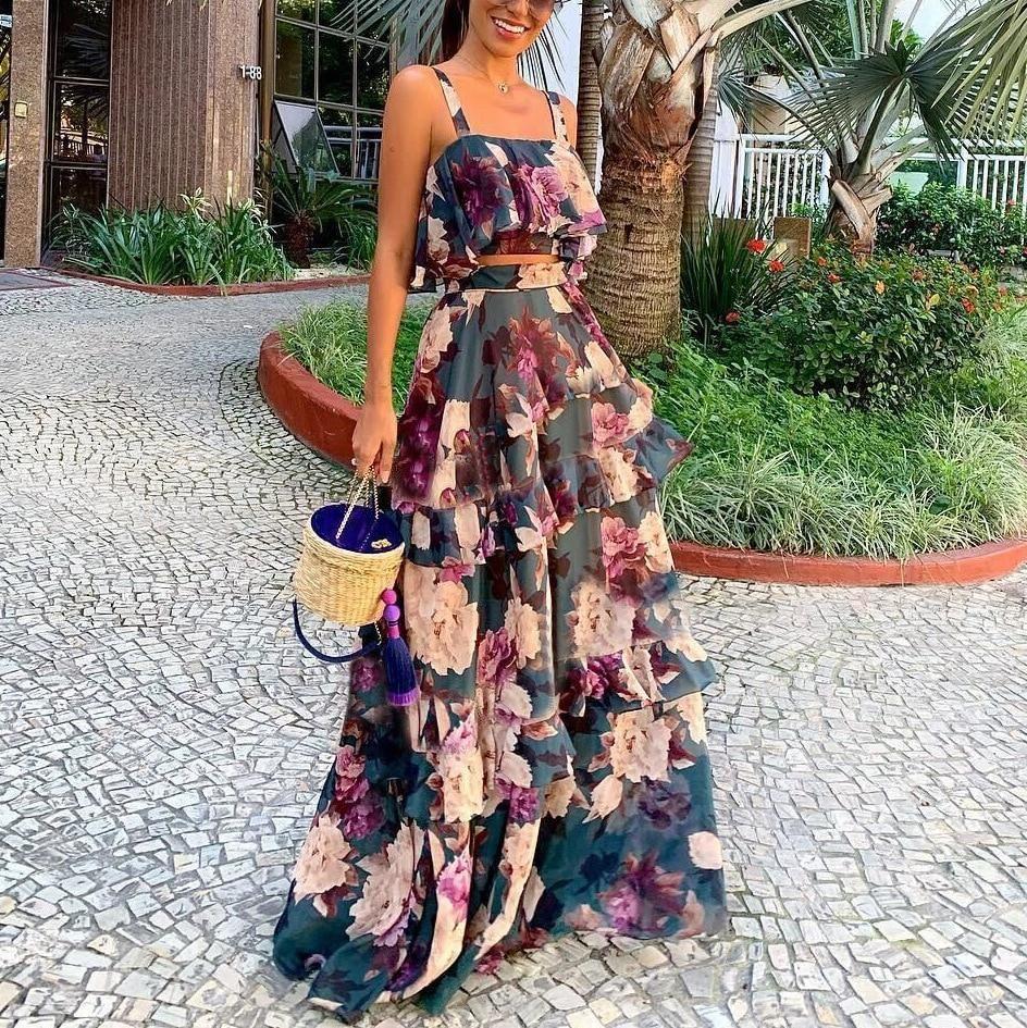 Flower Women summer dress cloth dress skirt women unique high quality dress