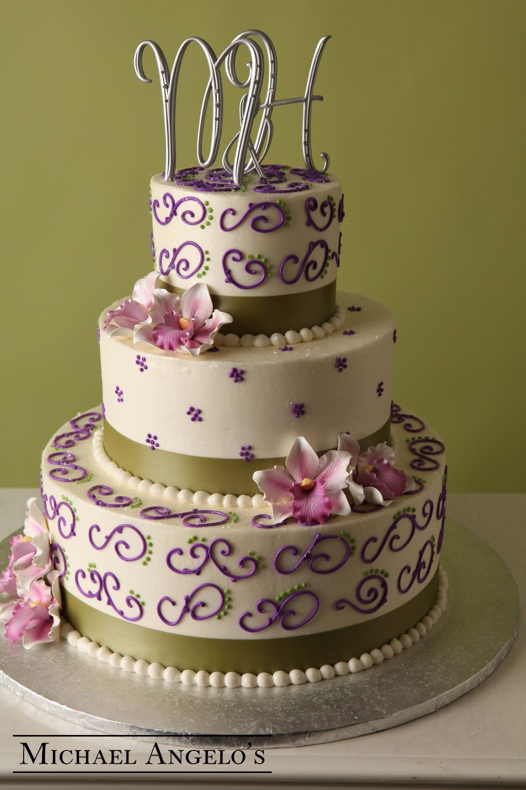 Purple & Green Swirl #45Ribbons   Cake decorating, Dessert ...