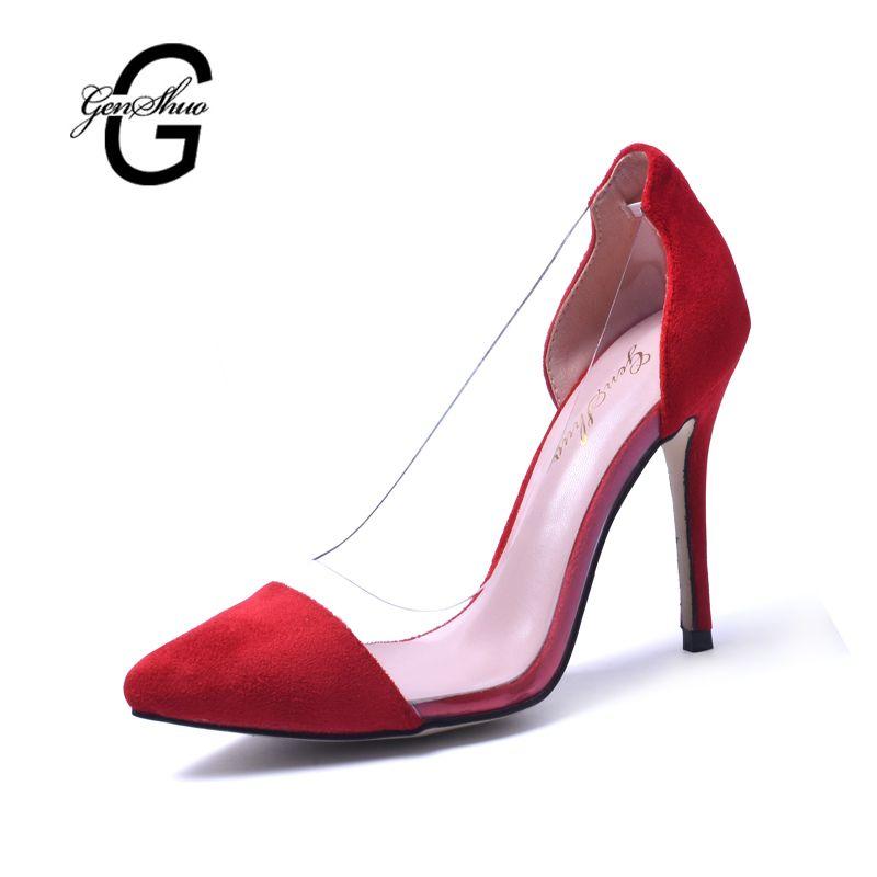 Femmes Chaussures PVC D'été Automne Club Chaussures Light Up Chaussures Talons Talon Stiletto Talon de Cristal Translucide Talon Cristal Talon pour Fête (Couleur : B, Taille : 40)