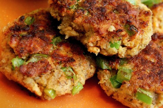 Salmon patties.. we ate these growing up