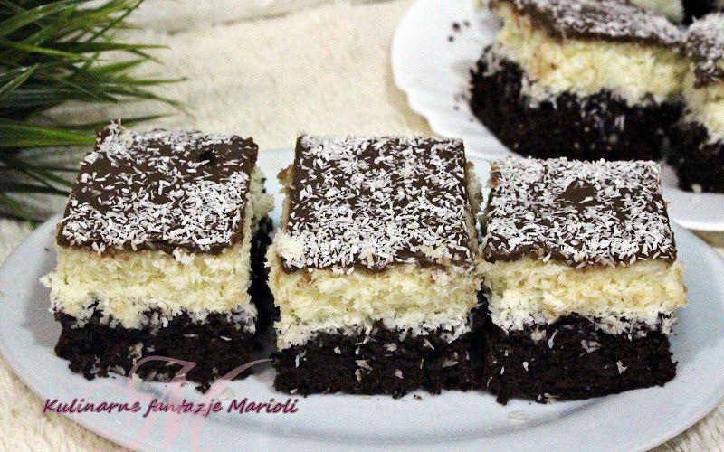 Ciasto Kokosowe Bounty Fiulmik Kulinarne Fantazje Marioli Food Desserts Mini Cheesecake