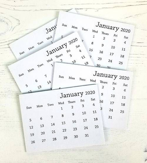 2020 Mini Tear Off Calendar Mini Calendars Mini Desk Calendar