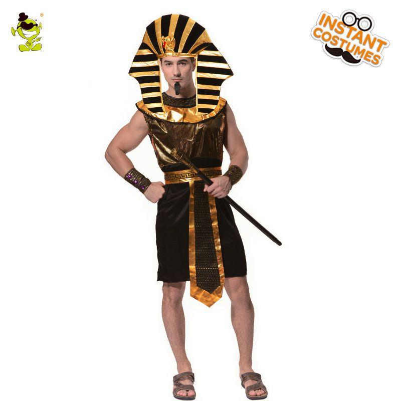 Click to Buy u003cu003c Menu0027s Glod Egyptian pharaoh costume Halloween carnival Party cosplay. u003eu003e  sc 1 st  Pinterest & Click to Buy u003cu003c Menu0027s Glod Egyptian pharaoh costume Halloween ...