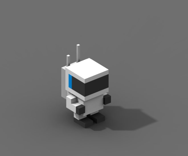 Voxel spaceman from the game Escape the sector - made in MagicaVoxel