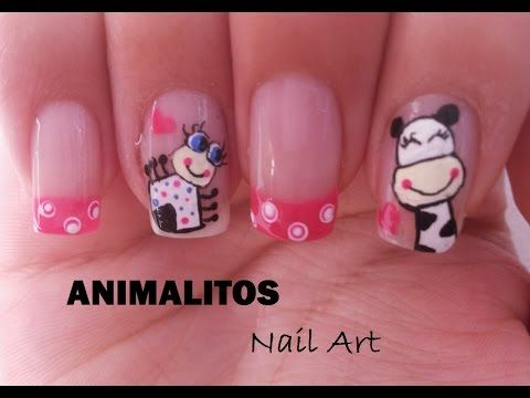 Decoracin De Uas Con Animalitos Animals Nail Art Youtube