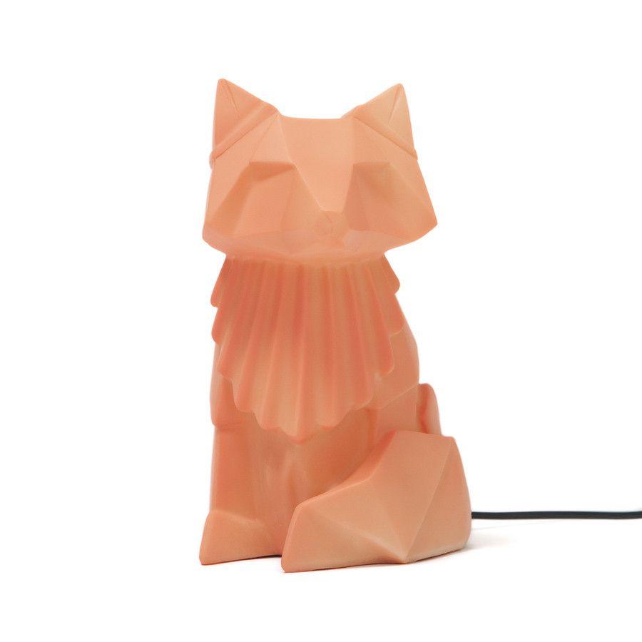 Lamp . Origami Fox - Orange