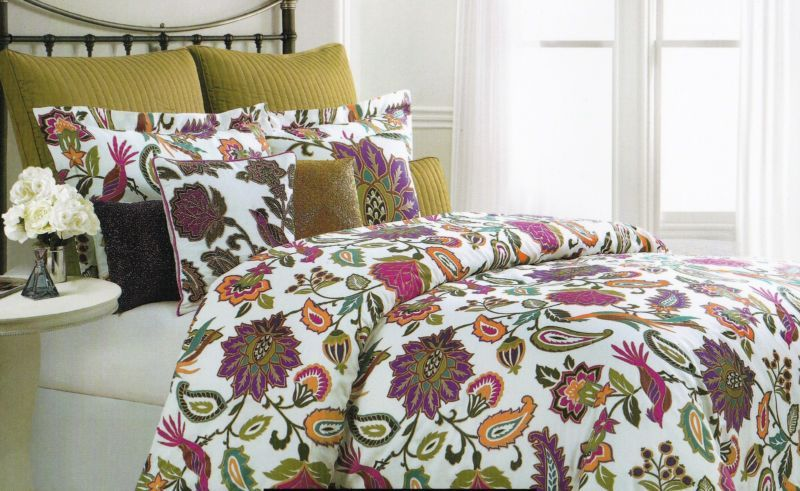 Cynthia Rowley King Floral Medallion Teal Pink Purple Olive 6pc Comforter Set Comforter Sets Teal And Pink Comforters