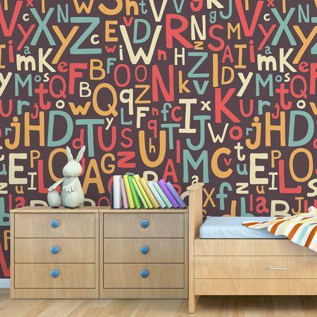 Papel de parede adesivo letras - StickDecor   Decoração Criativa