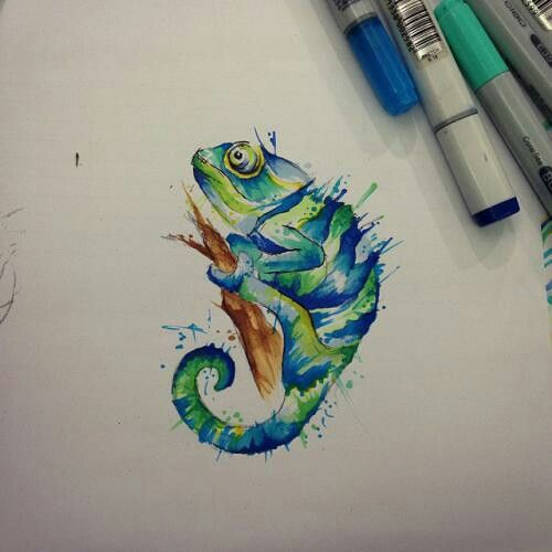 60 Colorful Chameleon Tattoo Ideas: Chameleons, Tattoo
