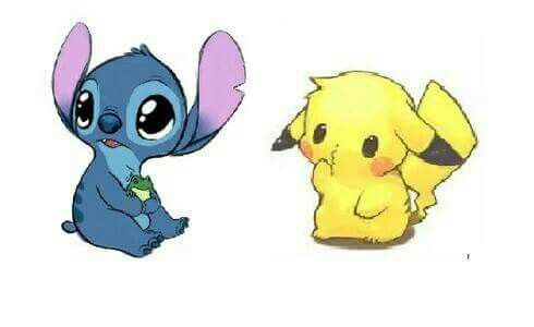 Stitch And Pikachu I Give Good Credit To Whoever Made This Stitch And Pikachu Pikachu Drawing Stitch Cartoon
