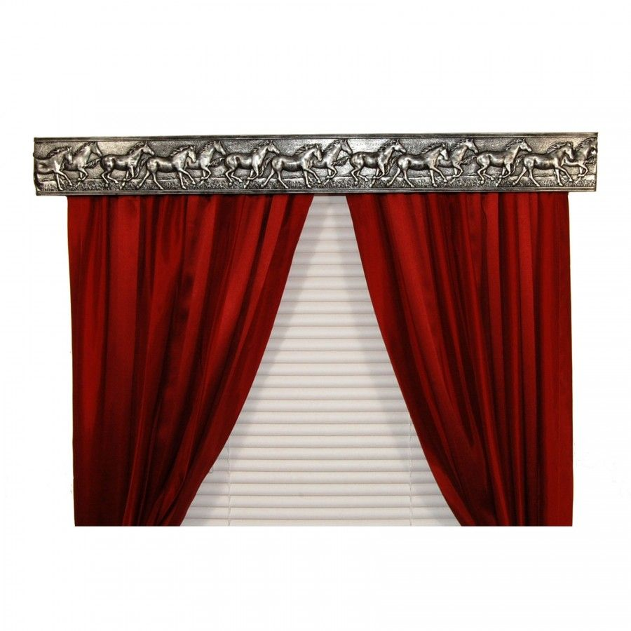 Bcl Drapery Hardware Wild Horses Curtain Rod Valance In Antique