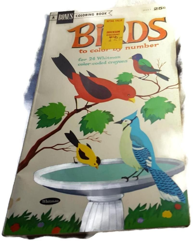 Vintage 1966 Unused Birds To Color By Numbers Coloring Book ...