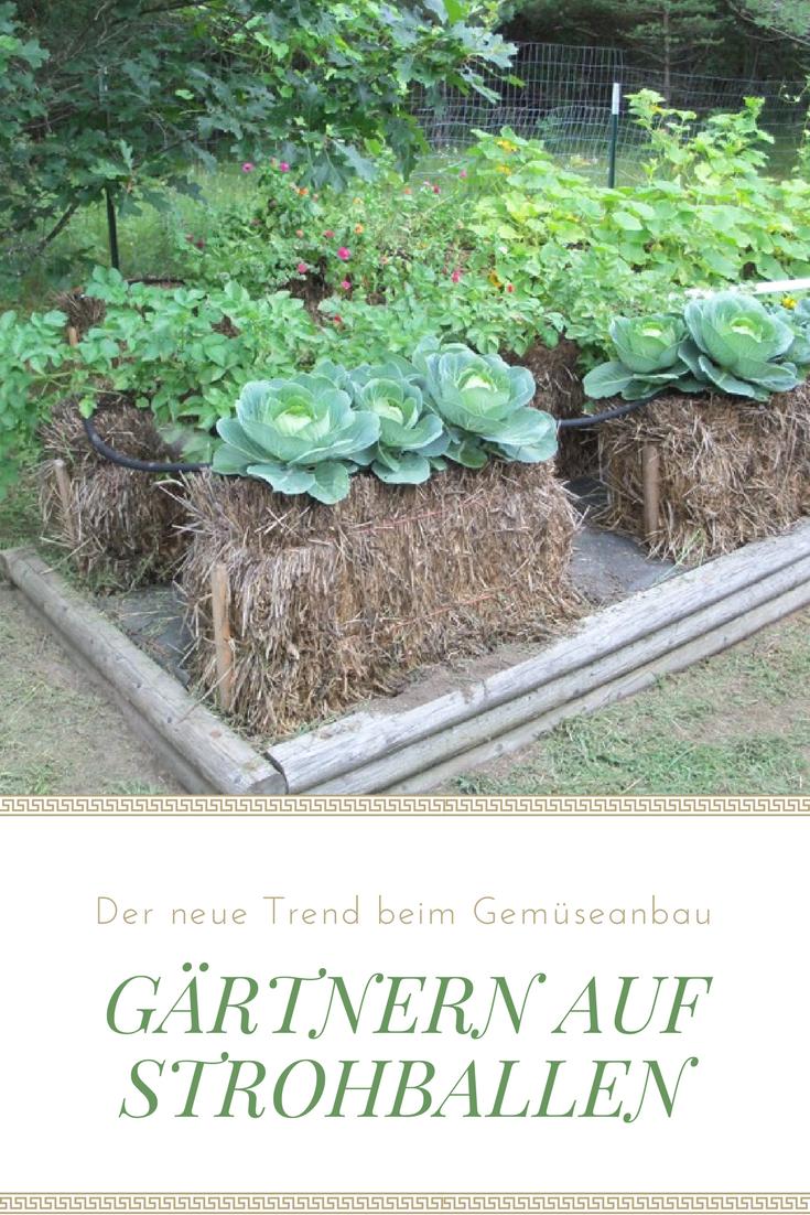 Ähnlich wie hochbeete, das gärtnern auf strohballen macht es, Gartengerate ideen