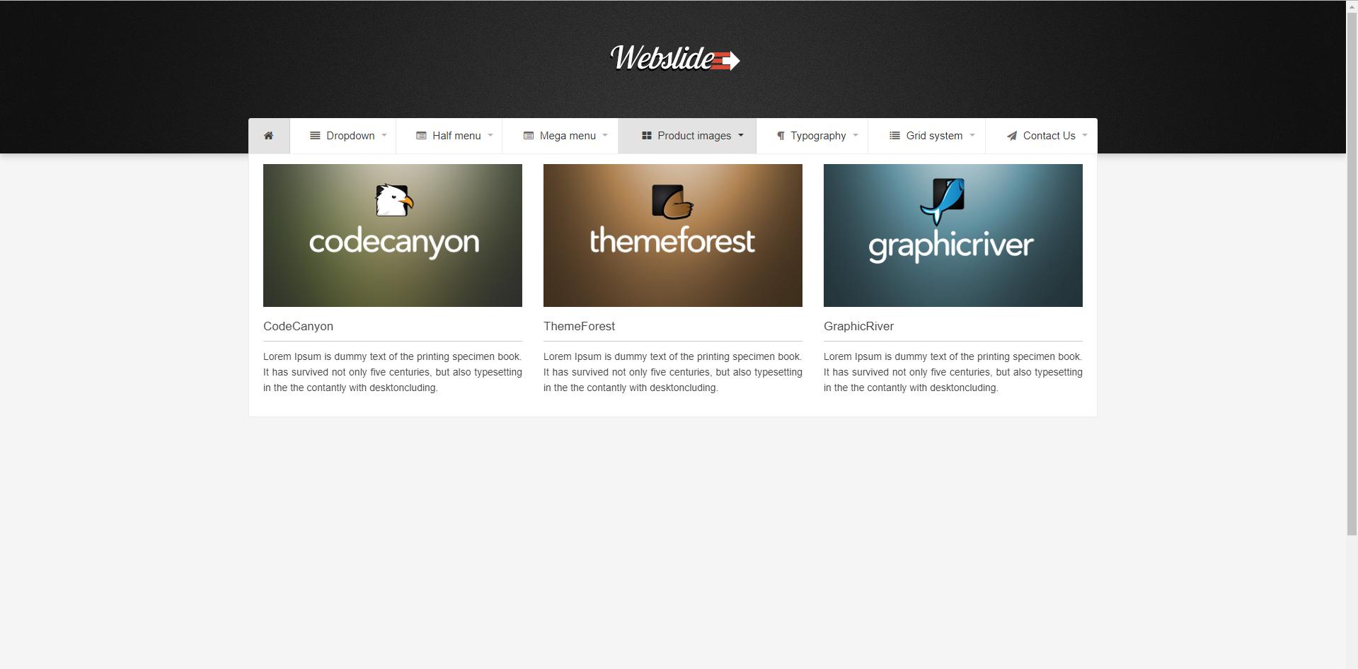 Web Slide - Bootstrap 4 Mega Menu Responsive | Chicken Food Photos