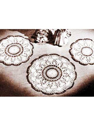Crochet Doilies Vintage Doily Crochet Patterns Radiant Doily Set