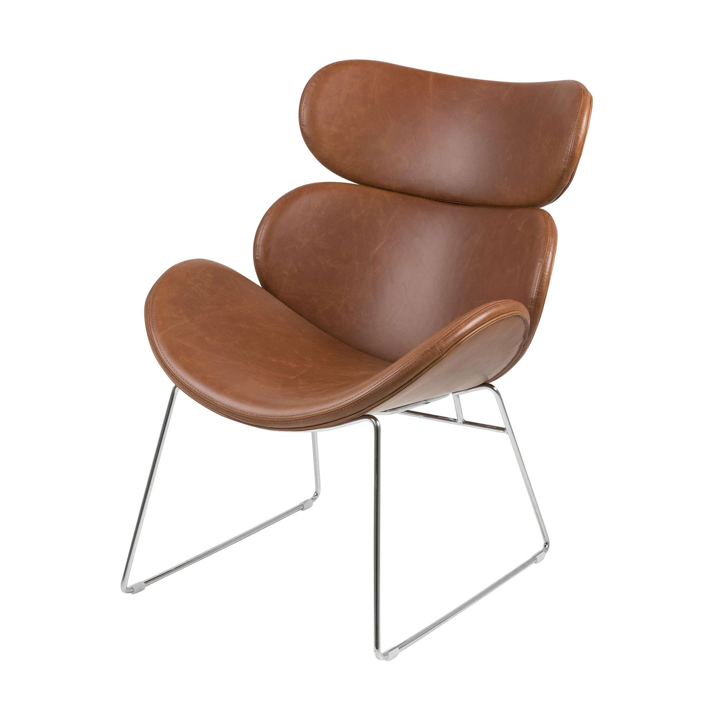 Amadill Lounge Sessel Wohnzimmer Sessel Kunstleder Ikarus Sessel Schaukelstuhl Modern Einzelsessel