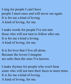 loves diet poem