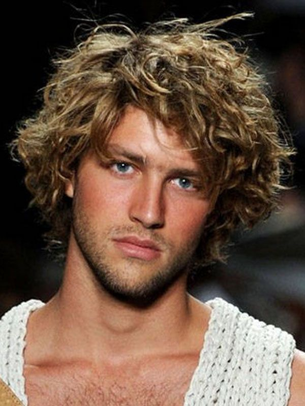 Medium Length Curly Hairstyles For Men The Best Of Curly