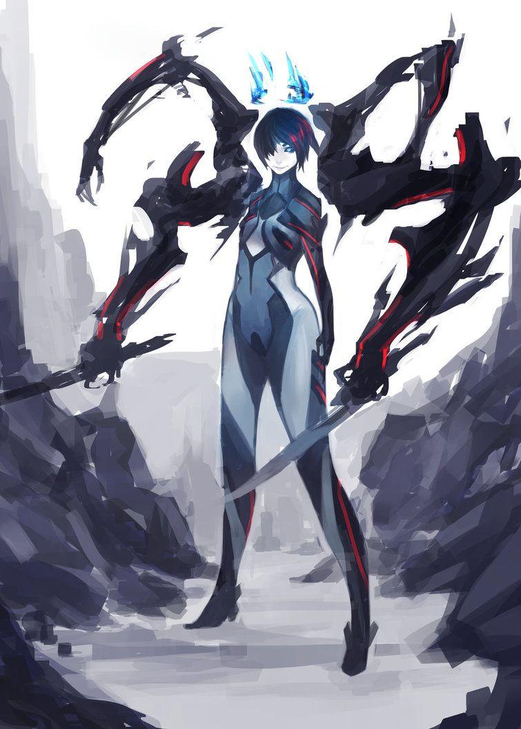 Mecha Girl Concept Art Characters Dark Fantasy Art Anime