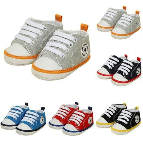 f3f52bea262e Fashion 0-18 Month Unisex Kids Baby Soft Soled Crib Sports Shoe Laces Up  Sneakers Walking Prewalker-Touchy Style-Black-3-TouchyStyle