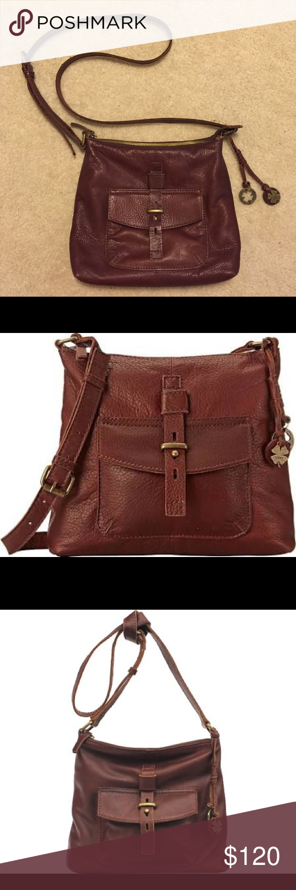 Lucky brand crossbody I purchased this and used it for about two weeks and realized it wasn't my style. I paid $180 and it is still in almost perfect condition. There are no signs of wear, stains, or rips. It was very well taken care of. Lucky Brand Bags Crossbody Bags