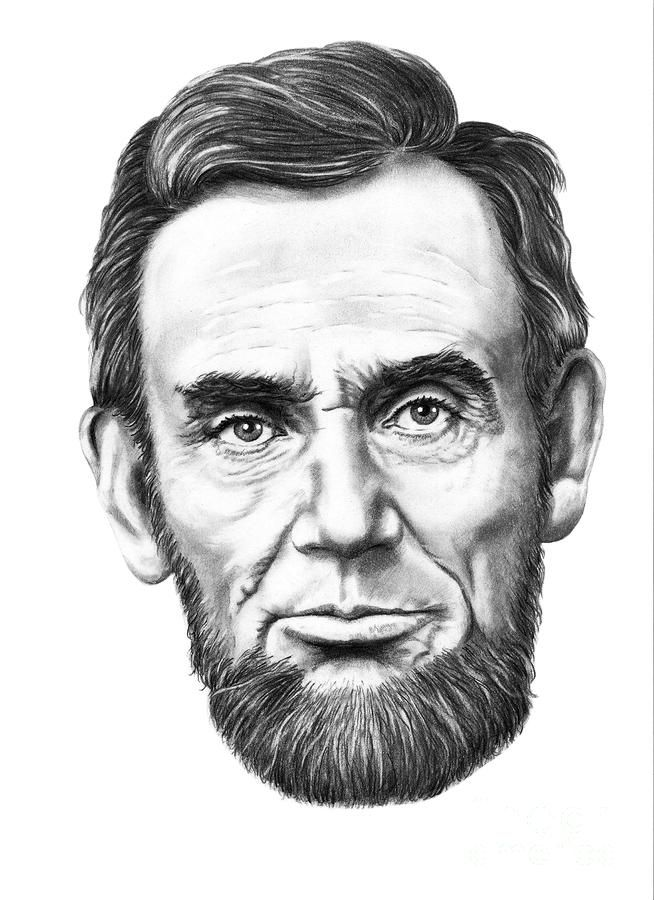 President Abe Lincoln By Murphy Elliott Traditional Pencil Art