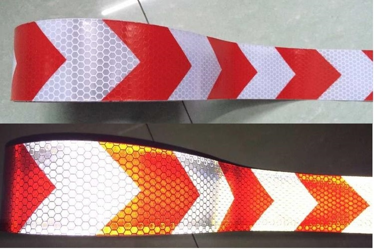 35.00$  Buy now - http://ali9rn.shopchina.info/go.php?t=32600895198 - 5cm*50M white reflective tape arrow guide sign Reflective adhesive tape,Reflective tape sticker for Truck,Car,Motorcycle  #SHOPPING