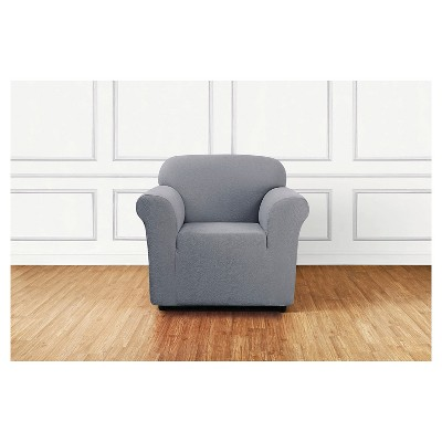 Stretch Leaf Chair Slipcover Mist (Blue) - Sure Fit