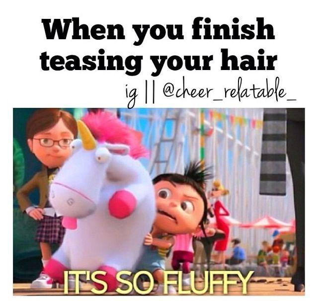 hahaha cheer hair #thingsweloveatspiritaccessories #cheer #cheerleaders