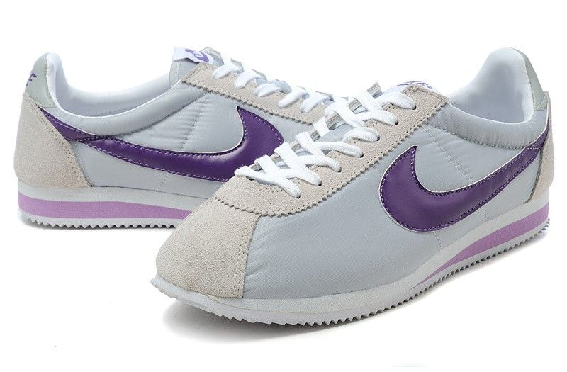 new arrival 939fc 92a49 France Boutique Chaussures Nike Cortez Nylon Vintage - Gris Violet Blanc -  Homme