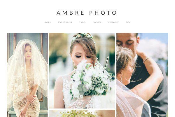 Ambre Photo - WordPress Theme by ambre themes on @creativemarket ...