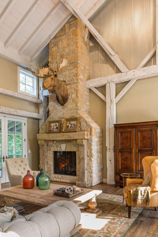Glen-Gery Landmark Stone Fireplace in the Chestnut Limestone color ...