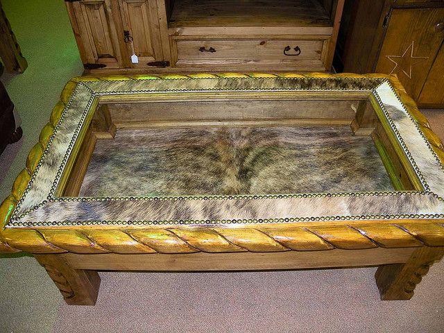 Custom Cowhide Shadow Box Shadow Box Decorating A New Home Shadow Box Table