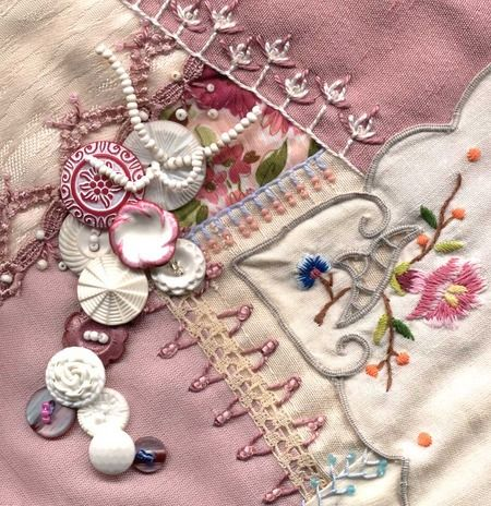 button crazy quilt