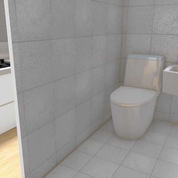 간만에 도면 3D작업진행중 변기색이..왜케 이뻐보이지 #c4d#cinema4d#interior#color#toilet#house#floorplan by diiihye_o