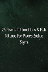 Photo of 25 Fische Tattoo Ideen & Fisch Tattoos für Fische Sternzeichen – 25 Fische Tatto …