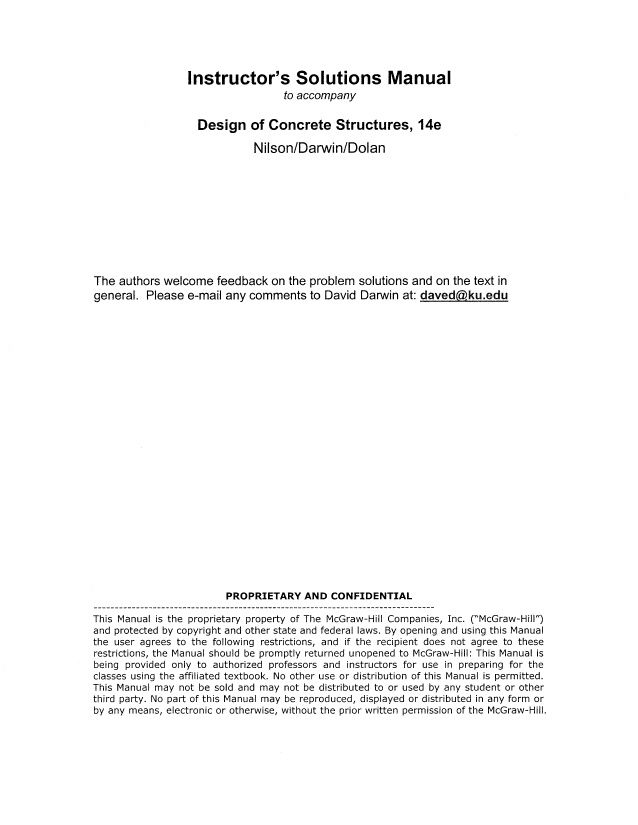solutions manual to design of concrete structures by nilson darwin rh pinterest com