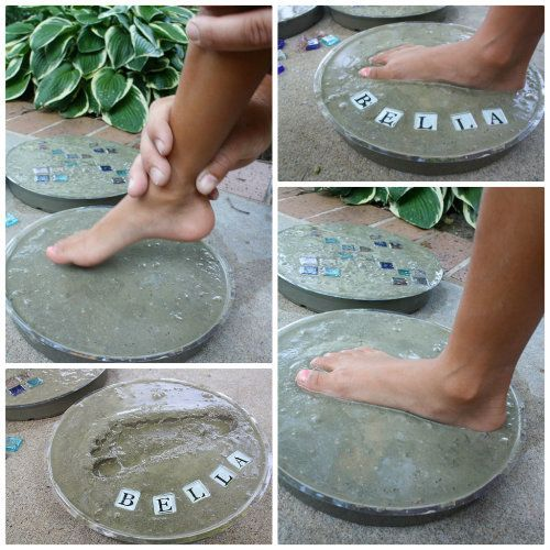 Photo of Cement Handprint Stepping Stones Video Instructions