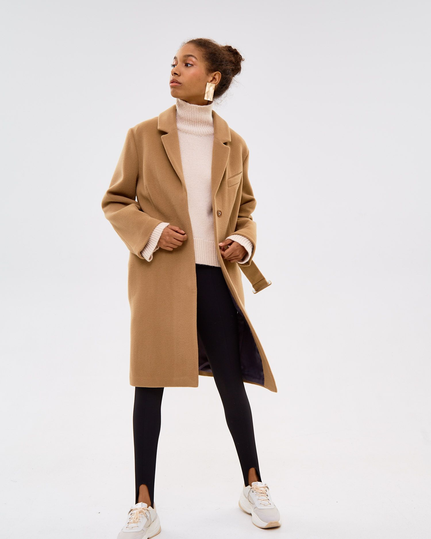 e6101ea221 Straight-fitted wool cashmere coat