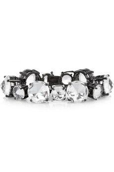 Noir Jewelry Gunmetal-plated crystal bracelet   THE OUTNET $83.25