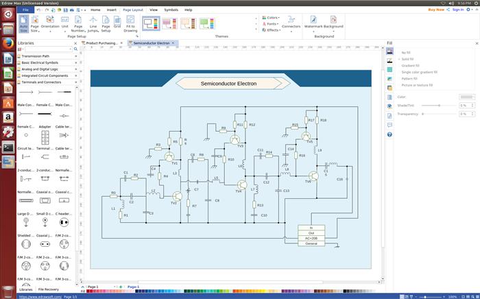 Edraw Linux Schematics Diagram Software Linux Software Diagram