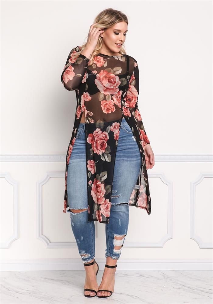Plus Size Clothing Molett Rose Mesh Nagy Has Tott