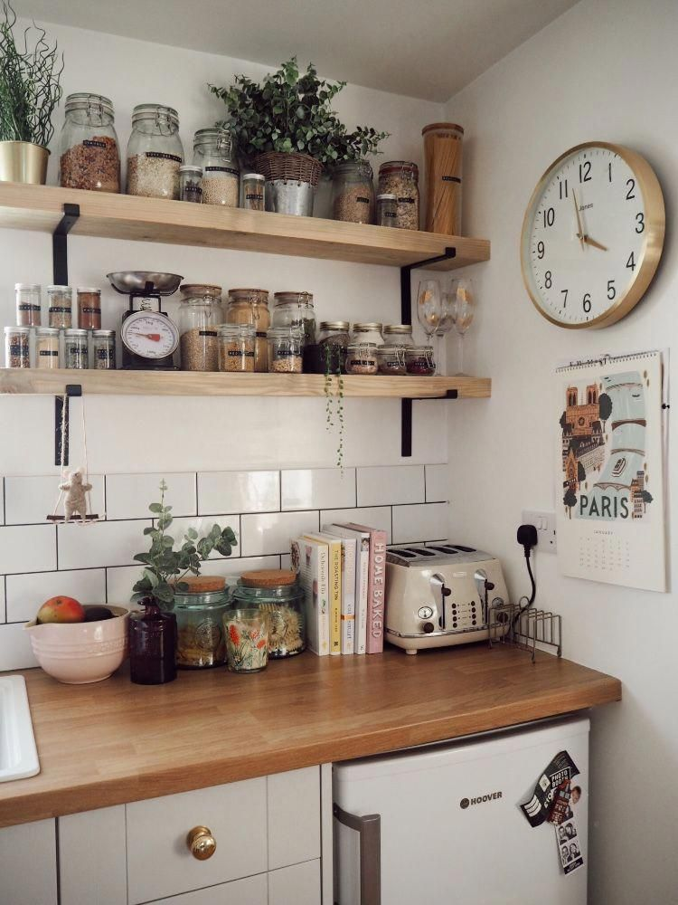 A corner of my kitchen and my favourite part, the exposed industrial shelving. #…,  #Corner…