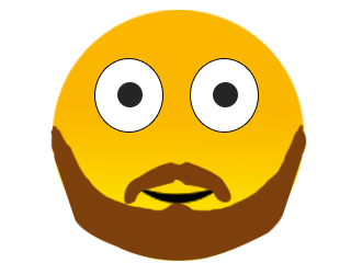Beard Smiley Emoji These Days Beards Are In We Considered Giving This Emoji A More Impressive Bird Hiding Beard Emoji Just For Men Beard Emoji Keyboard
