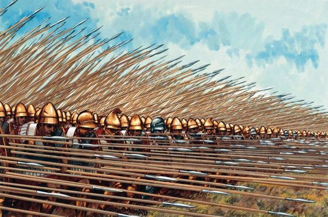 Archaic period phalanx which was the formation of their hoplites ...