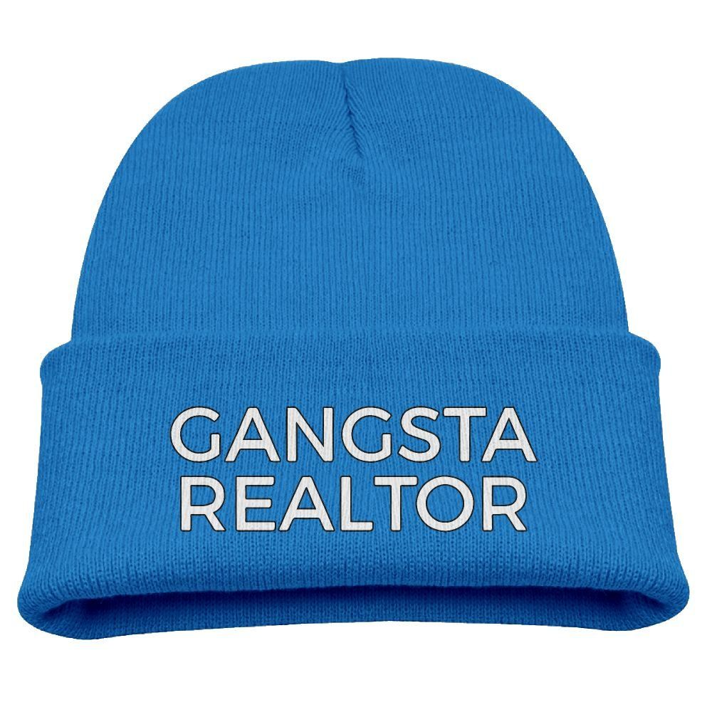 Funny Gangster Realtor Unisex Kids Warm Winter Hat Knit Beanie Skull Cap  Cuff Beanie Hat Winter f0ec6e487b02